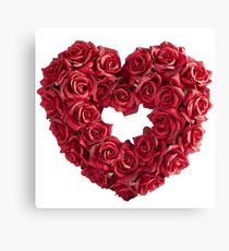 Love Heart of Red Rose Canvas Print