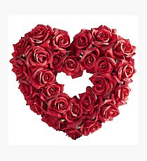 Love Heart of Red Rose Photographic Print