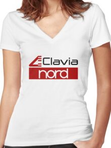 Logo Clavia Nord Keyboards Women's Fitted V-Neck T-Shirt