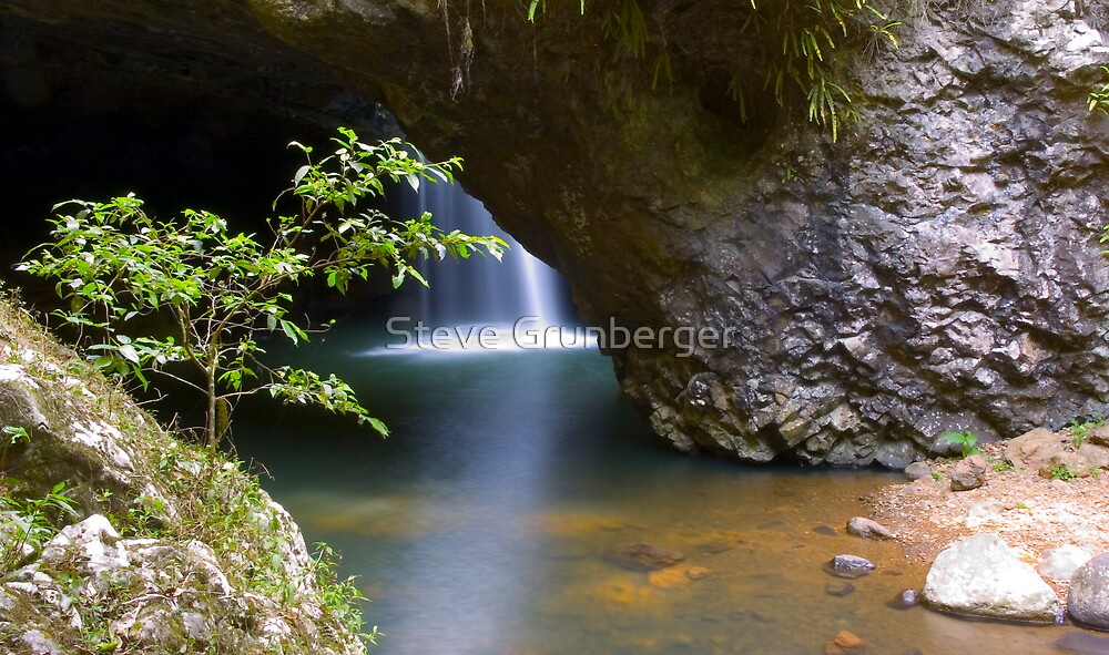 Natural Arch Waterfall - Outside View by Steve Grunberger