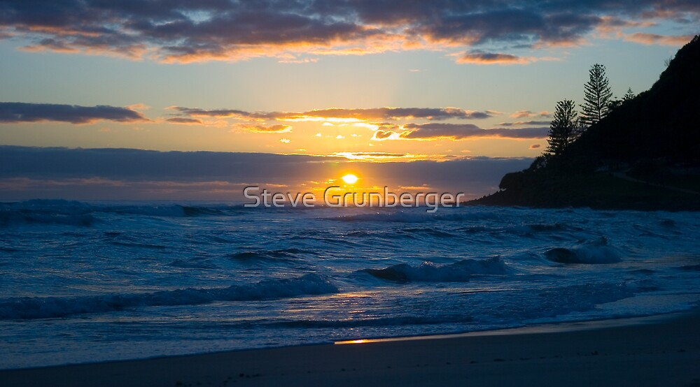 Burleigh Heads Sunrise by Steve Grunberger