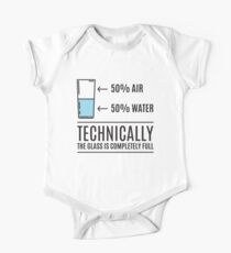 The Glass Is Completely Full - Funny Humor Saying Kids Clothes