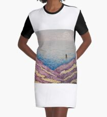 Spring and Summer Graphic T-Shirt Dress