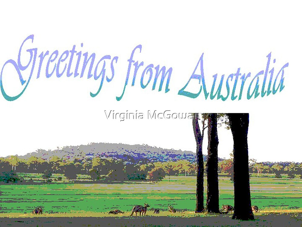 Card Greetings from Australia by Virginia McGowan