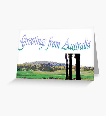 Card Greetings from Australia Greeting Card