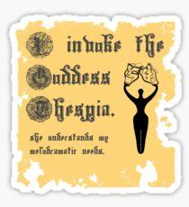 I Invoke the Goddess Thespia Sticker