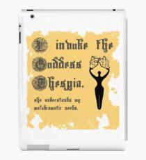 I Invoke the Goddess Thespia iPad Case/Skin