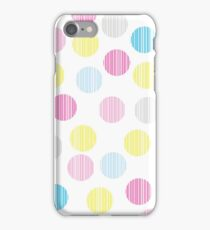 Simple circle pop pattern. Colorful disco background.  iPhone Case/Skin