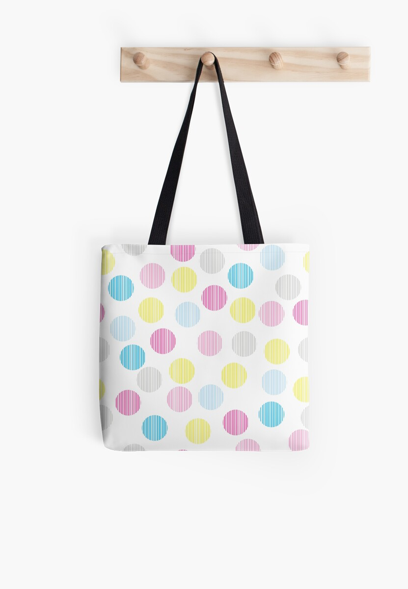 Simple circle pop pattern. Colorful disco background.  by illucesco