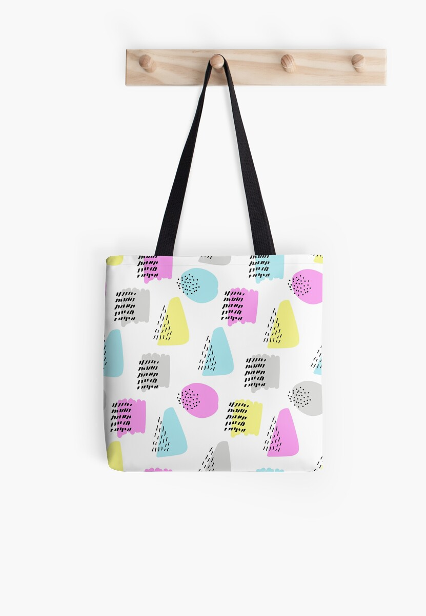 Simple memphis cute pattern. Seamless colorful background by illucesco