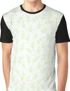 Simple hand drawn leaf pattern. Cute nature background. Graphic T-Shirt
