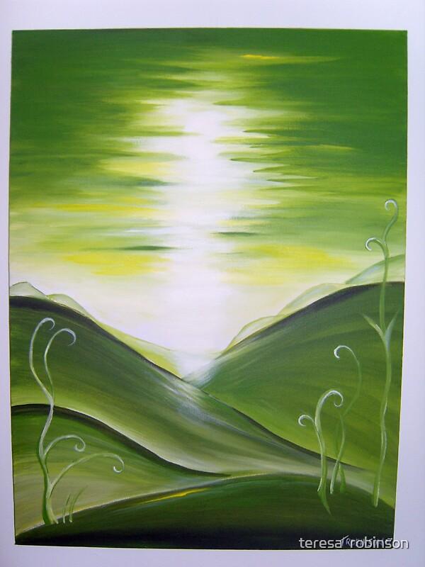 GREENLIT HILLS. by teresa  robinson