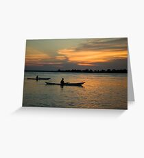 Paddling Thru The Sun Greeting Card