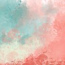 Abstract colorfull watercolor illustration by jenteva