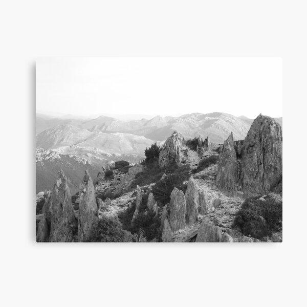 jagged rocks on Mt Read, Rosebery, Tasmania Canvas Print