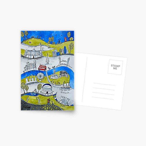 London Marathon Postkarte