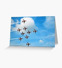 Red Arrows Flanker Bend Greeting Card