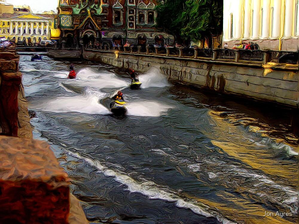 St. Petersburg Canal Runners by Jon Ayres