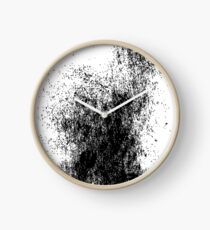 Black & White Ink Splash Clock