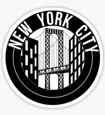 new york city bridge Sticker