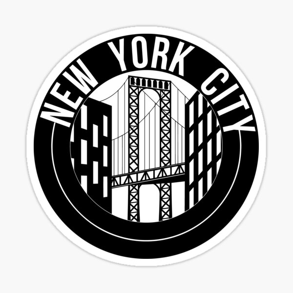 new york city bridge Sticker