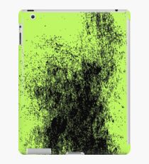 Black Ink Splash with Green Background iPad Case/Skin