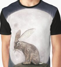 Night Rabbit Graphic T-Shirt