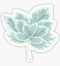Winter Leaf Sticker