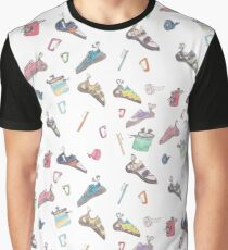 Climbing Watercolour Pattern Graphic T-Shirt