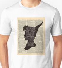 Peter Pan Over Vintage Dictionary Page - That Place Unisex T-Shirt