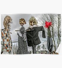 Scarecrow in human clothes Poster
