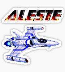 Aleste - Title Screen Sticker