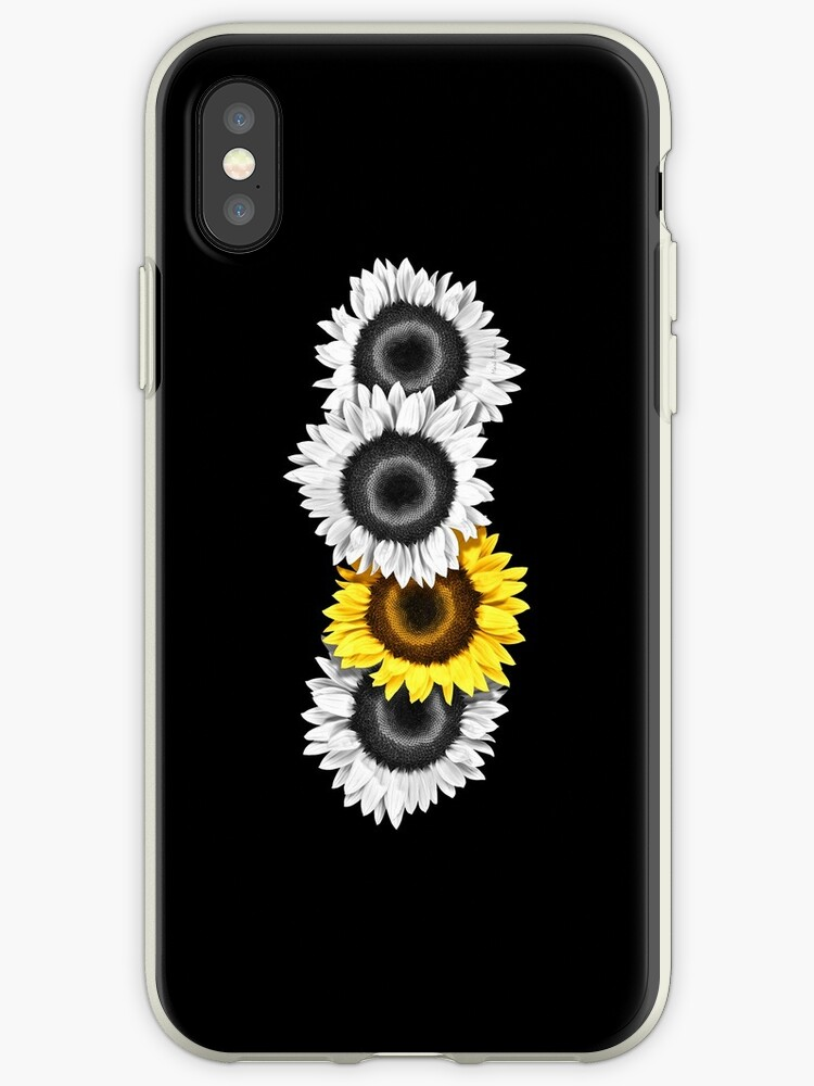 Smartphone Case Sunflowers - Midnight Black by mpodger