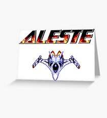 Aleste - Title Screen Greeting Card