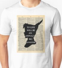 Peter Pan Over Vintage Dictionary Page - To Live T-Shirt