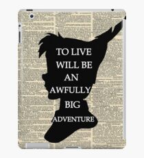 Peter Pan Over Vintage Dictionary Page - To Live iPad Case/Skin