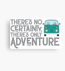 WESTY ADVENTURE (teal) Canvas Print