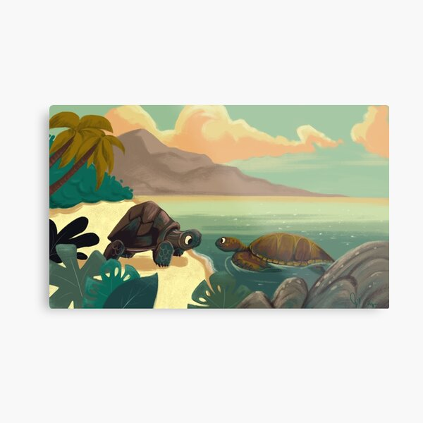 The Tortoise and The Turtle Metal Print