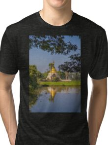 Myanmar. Somewhere in the Countryside. Stupa. Tri-blend T-Shirt