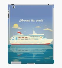 Around the World Travel Banner with Cruise Liner iPad Case/Skin