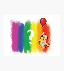 Pride Bear Questioning Photographic Print