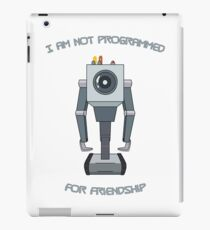 Rick and Morty – I Am Not Programmed for Friendship iPad Case/Skin
