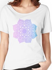 Mandala pink purple blue Women's Relaxed Fit T-Shirt