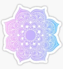 Mandala pink purple blue Sticker