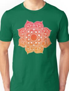 Mandala orange red Unisex T-Shirt
