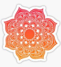 Mandala orange red Sticker