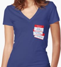 Hello Women's Fitted V-Neck T-Shirt