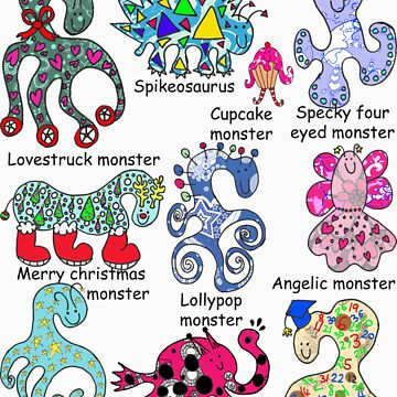 My monster family by sarahgee