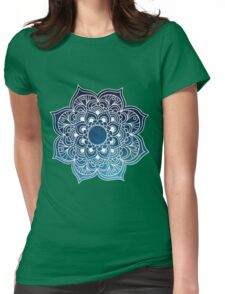 Mandala starry night sky Womens Fitted T-Shirt