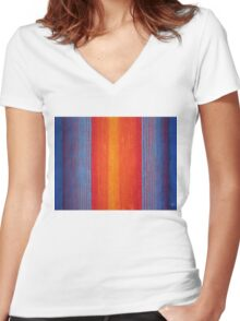 Curtain Call original painting Women's Fitted V-Neck T-Shirt